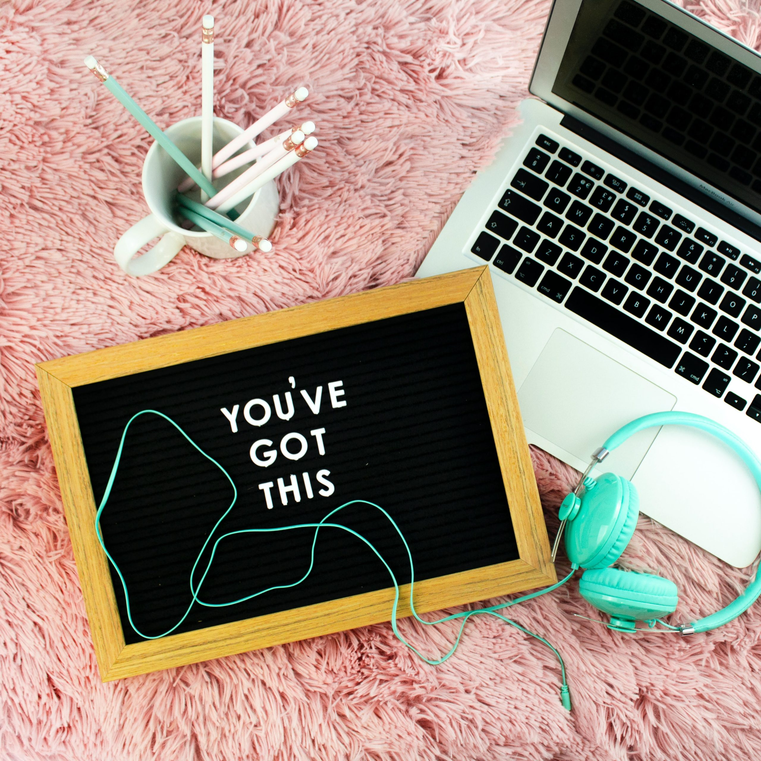 laptop with chalk board that says You've Got This